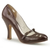 SMITTEN-20 Dark Brown Faux Leather